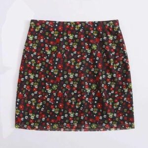 New  ditzy floral skirt xs